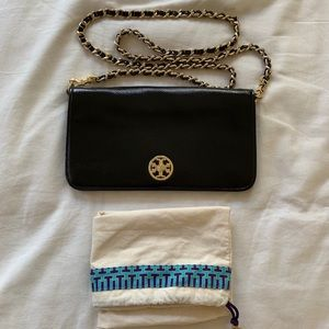 Tory Burch black leather bag!